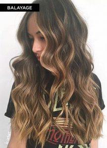 model rambut balayage