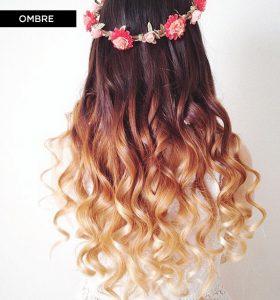 model rambut ombre